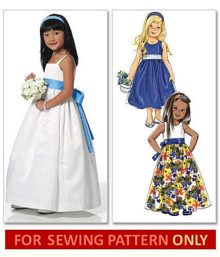 33312e1b3627 GIRLS DRESS PATTERN   Retired   Make Girls Fancy Dress   Flower Girl ...