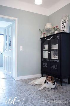 wandgestaltung mit alpina flur wohnzimmer im neuen look basteln pinterest wandfarbe. Black Bedroom Furniture Sets. Home Design Ideas