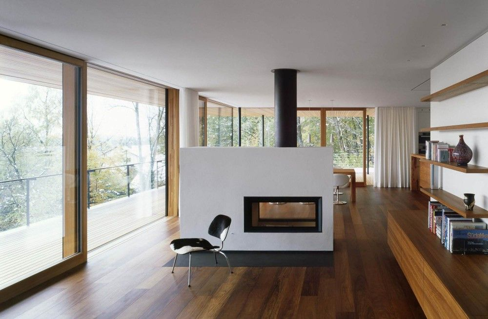 70 Moderne, Innovative Luxus Interieur Ideen Fürs Wohnzimmer    Minimalistisch Holz Bodenbelag Weiss Kaminofen Wohnbereich
