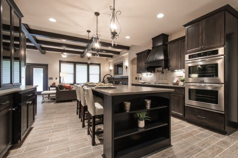 Complementing Dark Wood Kitchen Cabinet Dark Wood Kitchen