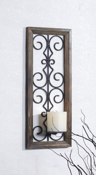 Metal candelabro de pared portavelas soporte de vela - Candelabros de pared ...