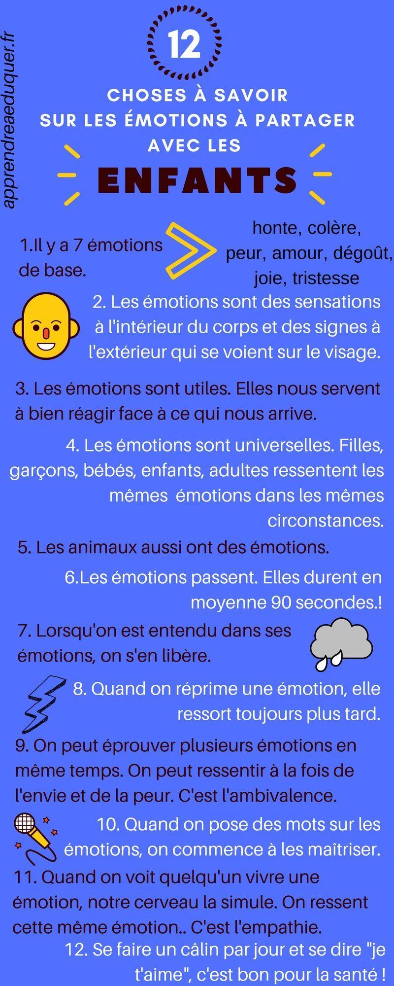10 choses à savoir sur les émotions (et transmissibles aux enfants)