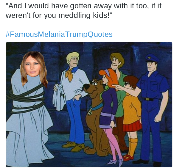 The Internet Can T Stop Sharing These Famous Melania Trump Quotes Scooby Scooby Doo Scooby Doo Quotes
