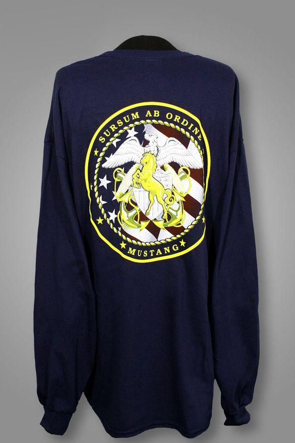 Navy Blue Long Sleeve Mustang T Shirt Mustang T Shirts Shirts