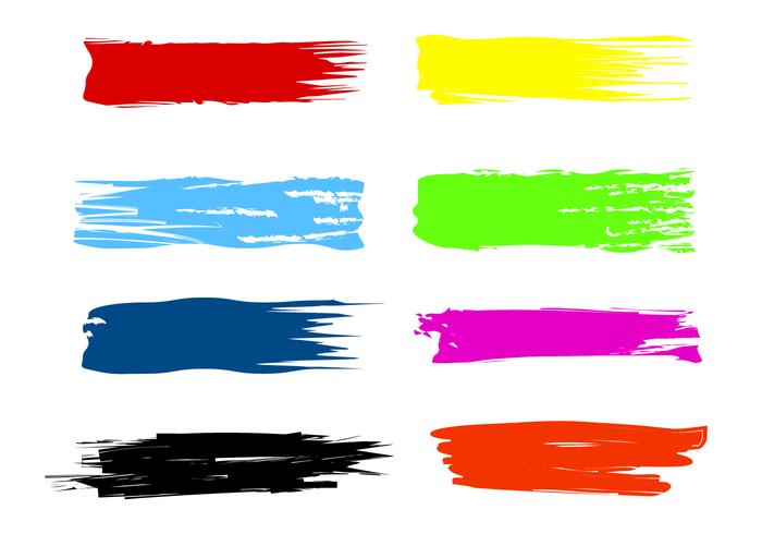 Paint Streak Brush Vectors Vector Art Painting Vector