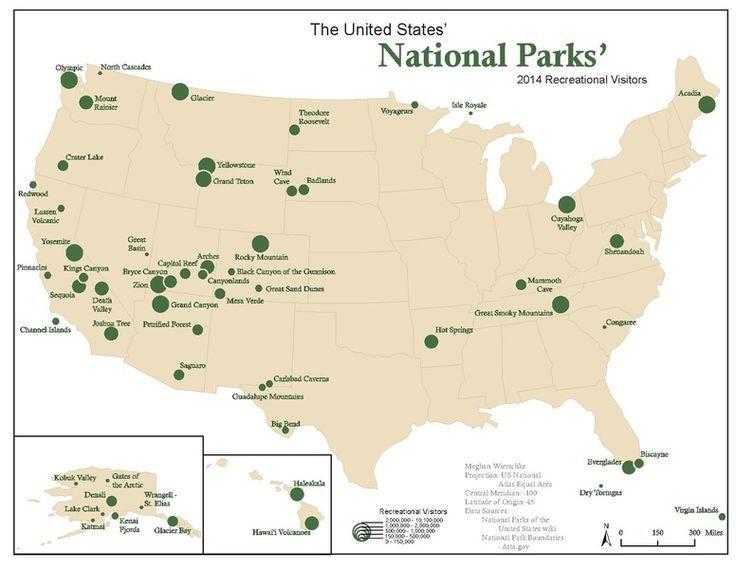 Ecfcaebcecnationalparksmapthenational - Us national parks road trip map