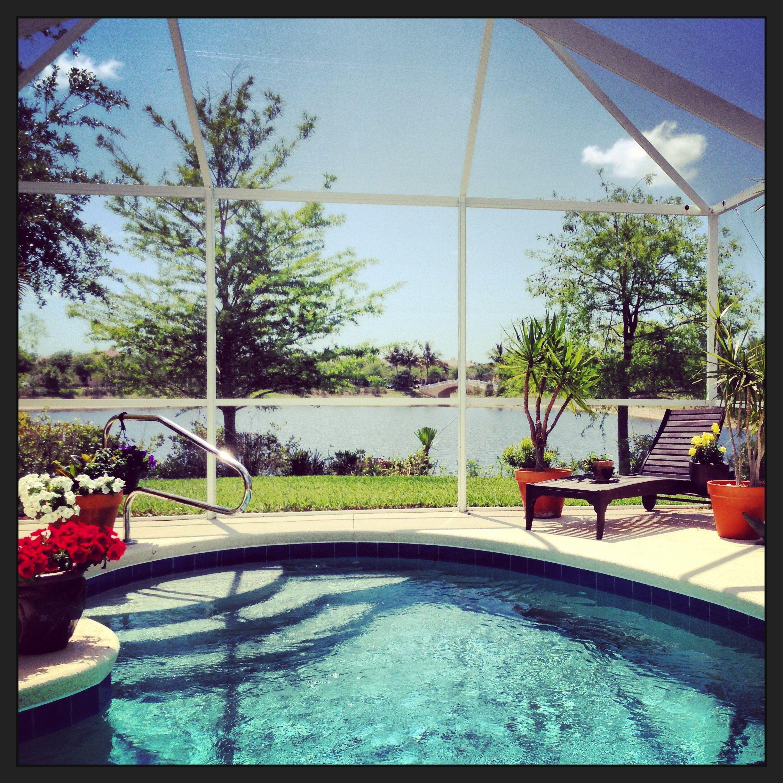 Patio Furniture Spring Hill Fl: Bonita Springs Pool With Lake View