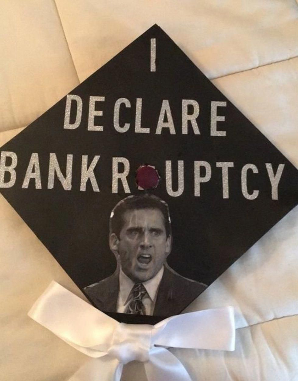 """12 Graduation Cap Decorating Ideas For The Ultimate """"The Office"""" Fan #decorating…"""