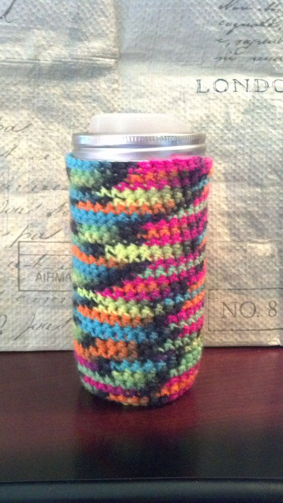 Medium Jar Cozy Neon Colors Pint and a by FunctionalyEnchanted, $10.00
