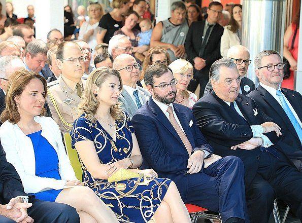 15 June 2017 - Princess Stephanie and Prince Guillaume visit Kräizbierg Foundation