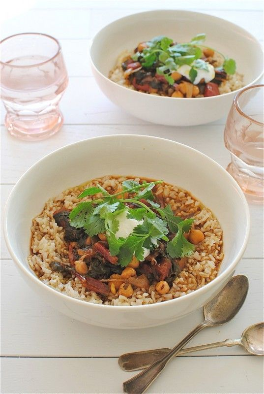 Swiss Chard and Chickpea Stew with Tamarind