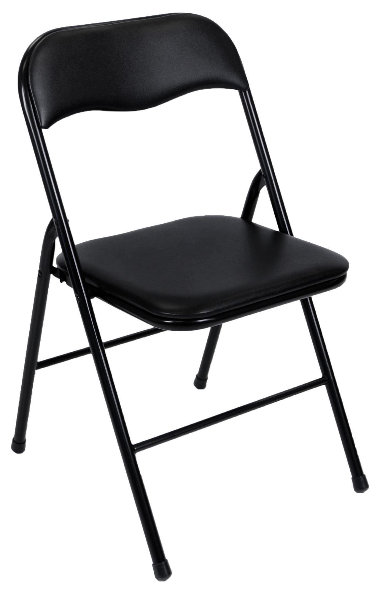 Folding Chairs Black Black Folding Chair Kitchen Dining Room