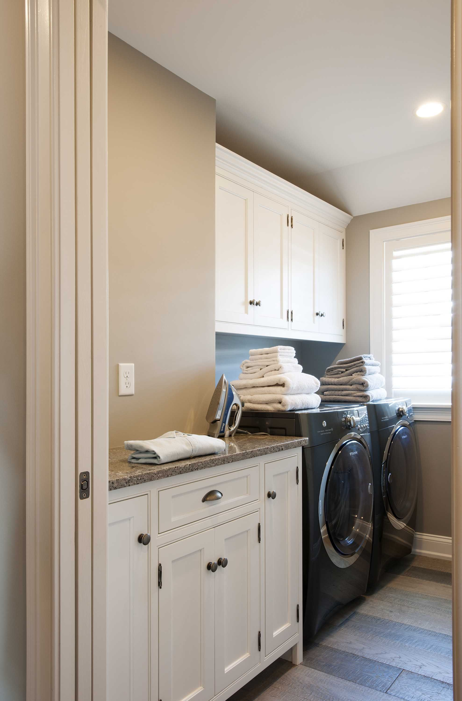 White Cabinetry, Custom Laundry Room.