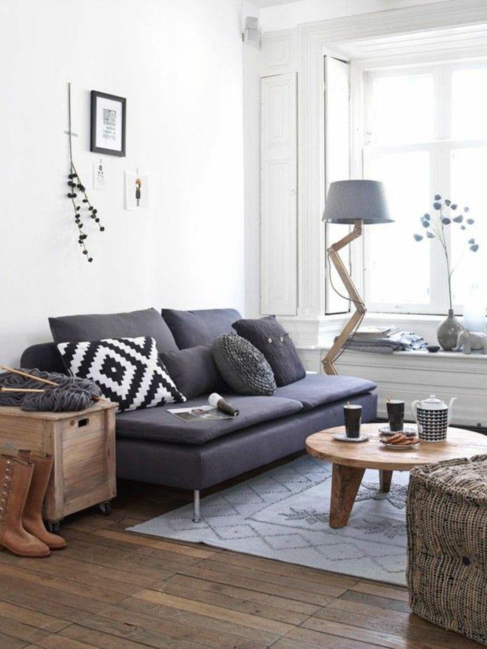le gris anthracite en 45 photos d 39 int rieur le val pinterest canap gris fonc canap. Black Bedroom Furniture Sets. Home Design Ideas