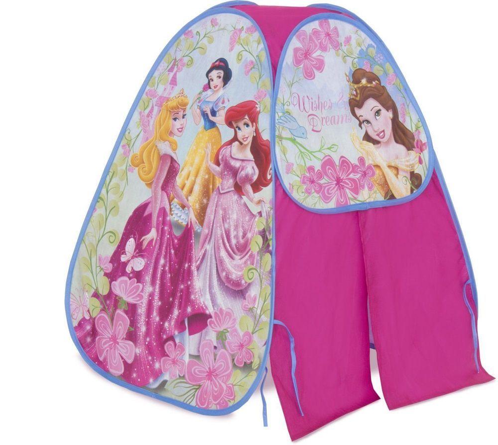 4fbb766596a9 Girls Playhut Disney Princess Camp 'N Play Tent Portable Pop Up Indoor Pink  Tent #Playhut