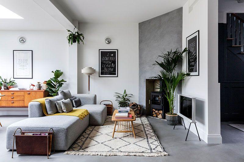 Sovremennyj Interer S Notkami Skandinavskogo Stilya V Londone Foto Idei Dizajn Living Room Scandinavian Scandinavian Style Home Home Living Room