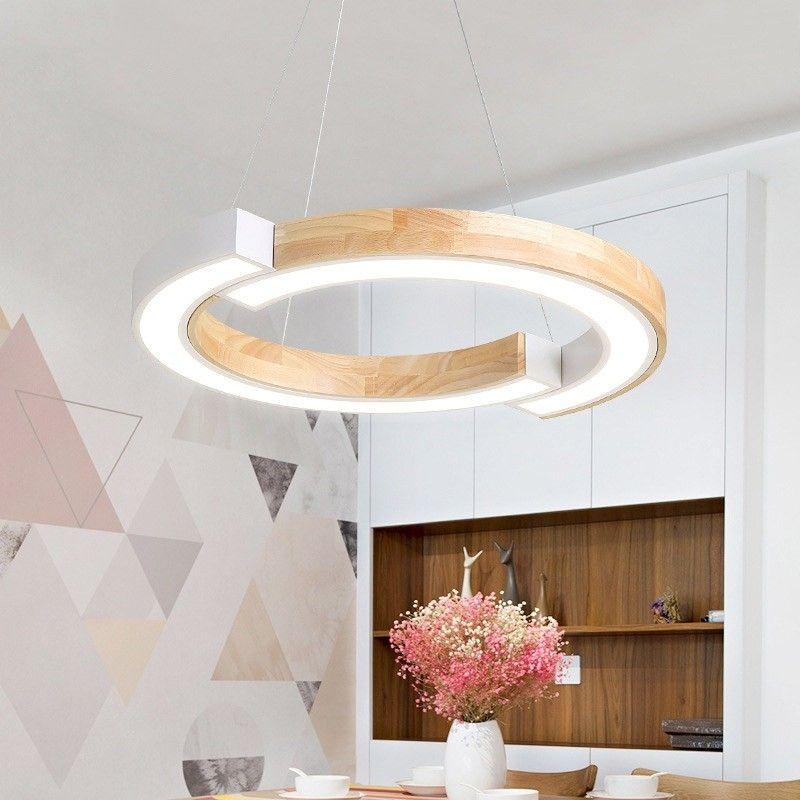 Modern Led Wood Metal Acrylic Small Medium Large Pendant Light In White Black In 2020 Large Pendant Lighting Wood Pendant Light Bedroom Light Fixtures