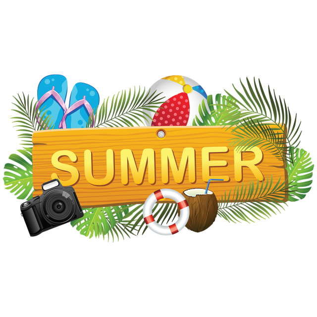 Creative Summer Board With Summer Elements, Summer, Summer
