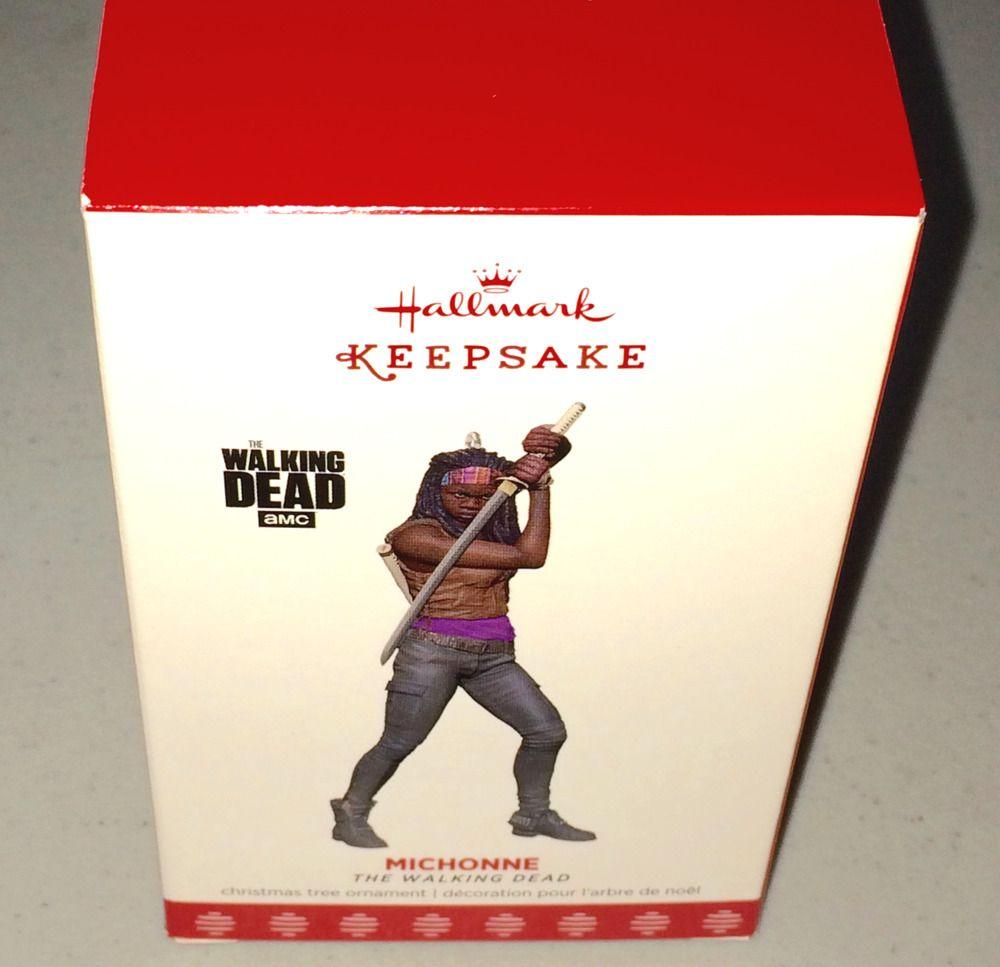 HALLMARK KEEPSAKE Ornament MICHONNE The Walking Dead NEW w// Katana Figure NIB