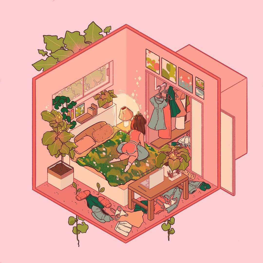 Lana  Ud83c Udf3f Ud83c Udf3f On Instagram   U201cfinally Got A Chance To Play With The Isometric Grids On Procreate  So
