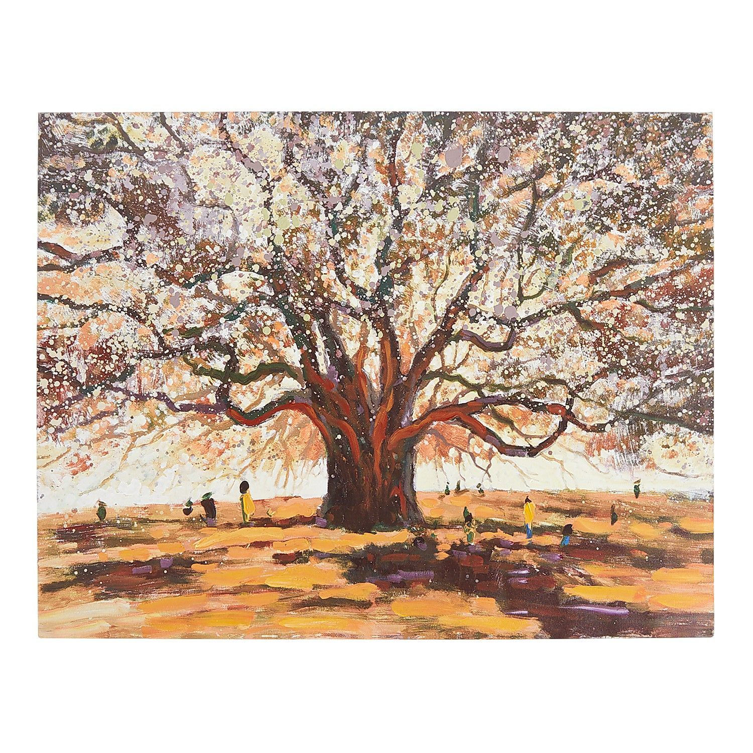Gathering Under Old Oak Tree Wall Art Pier 1 Imports Wall Art Canvas Painting Wall Art Nature Canvas Painting