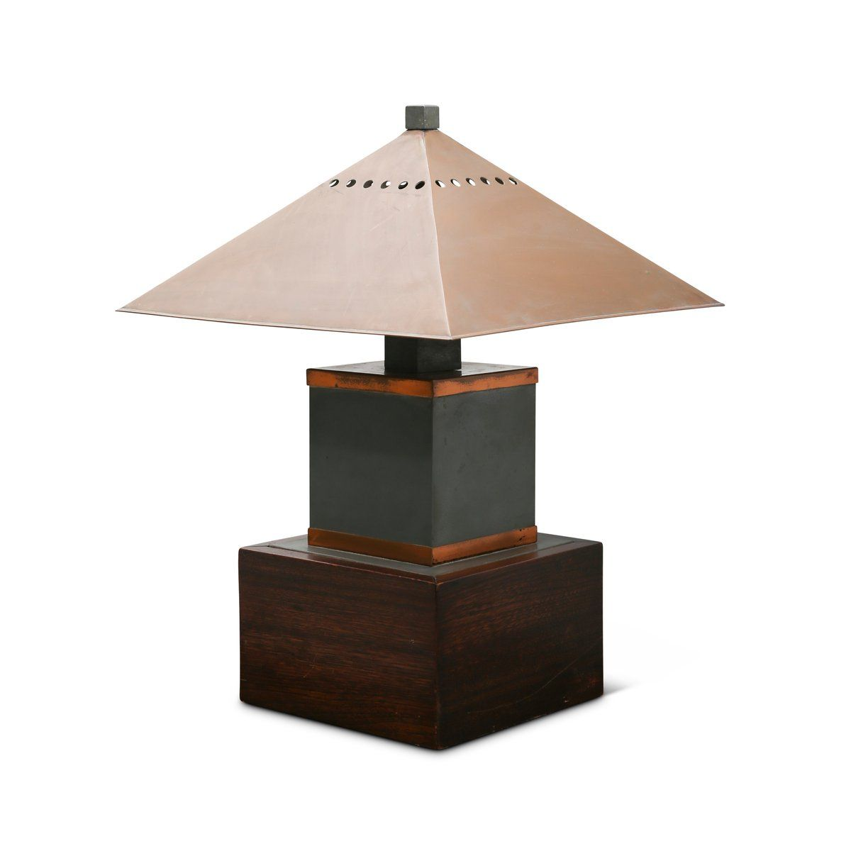 1930 S Copper And Mahogany Table Lamp In 2020 Table Lamp Antique Table Lamps Table Lamps For Sale