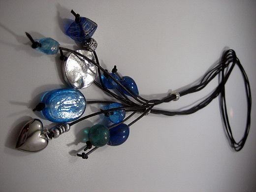 Zandstorm: Halsketting met glaskralen (Juwelen,halsketting)
