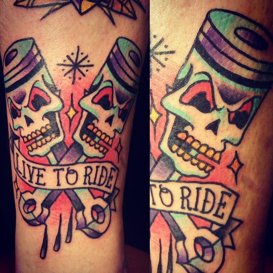 Born To Be Wild Dzieki Szaman Borntoride Ride Engine Chopper Motorcycle Biker Tattoo Ink Inked Trad Tr Harley Tattoos Bike Tattoos Biker Tattoos