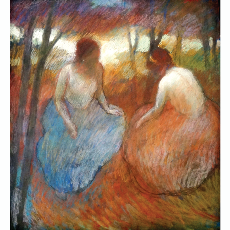 Many rare fine art works are available at our 21st of August sale, including this pastel/conte crayon work by Stephen Bagnell. Bid now or live: http://bit.ly/2aAUws2 #fineart #auction #gallery #nyart #pastel #women #nature