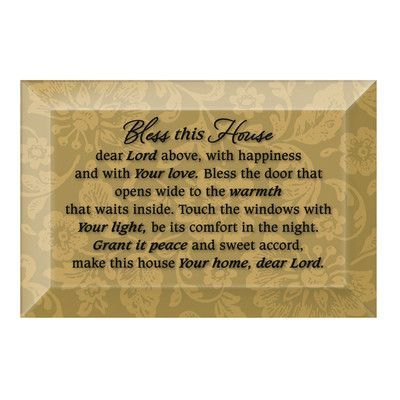 """Dexsa Simple Expressions """"Bless This House"""" Textual Art Plaque"""