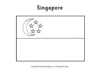 Singapore Flag Colouring Page