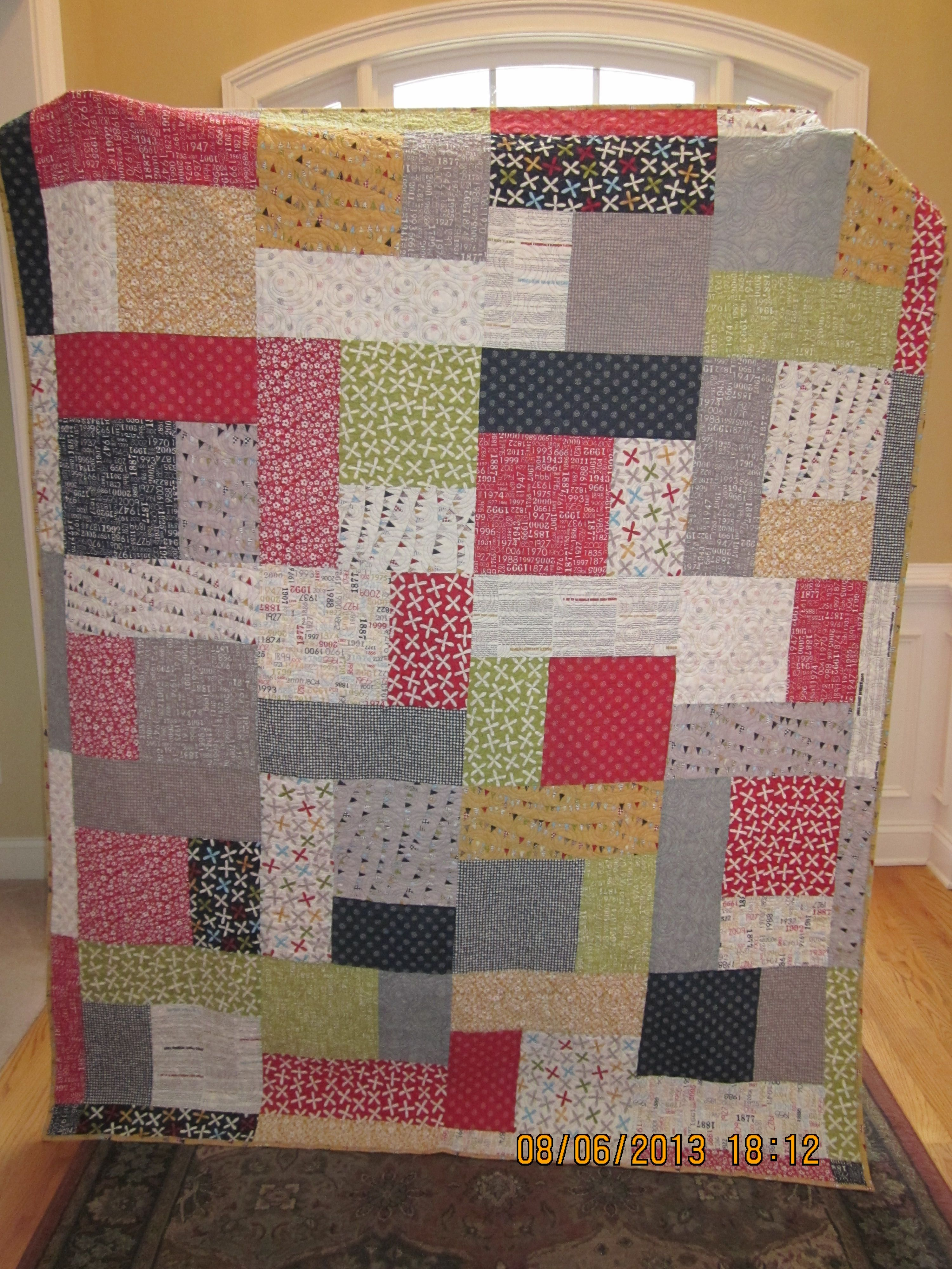 Turning Twenty quilt, made with Moda Reunion fabric. Quilting Pinterest Quilt, Reunions ...