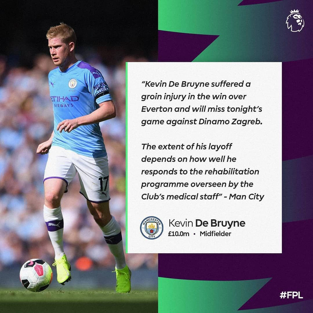 Confirmation About Kdb S Injury Keep Or Sell Fpl Fpl2019 Fantasypremierleague Premierleague Fantasypl Fanta Kevin De Bruyne De Bruyne Epl Football