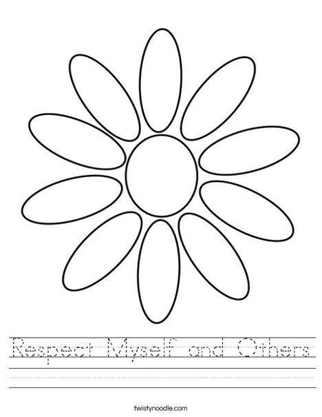 Respect Myself And Others Worksheet Twisty Noodle Girl Scout