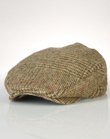 Wool Tweed Driving Cap - Polo Ralph Lauren Hats - RalphLauren.com ... e9bdebe3d3a