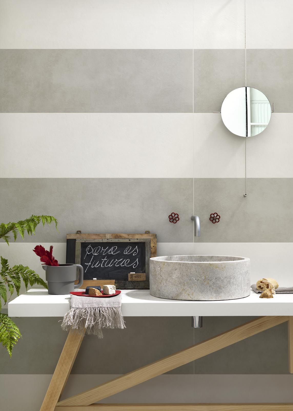 Wandfliesen Bad 30 X 60 Oficina7 Contemporary Bathroom Tiles Marazzi Modenafliser