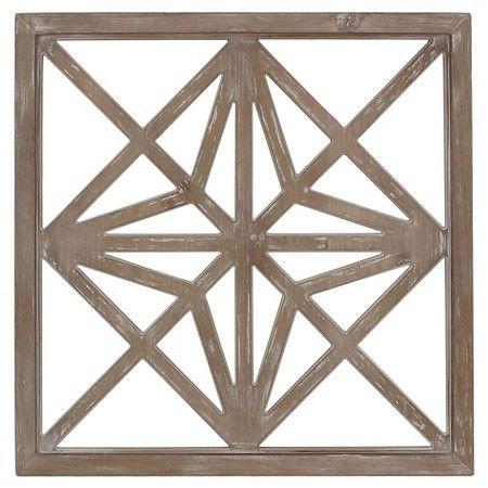 Lattice Wood Square 25 X25 Threshold Target Wall Accents Decor Wooden Wall Decor Lattice