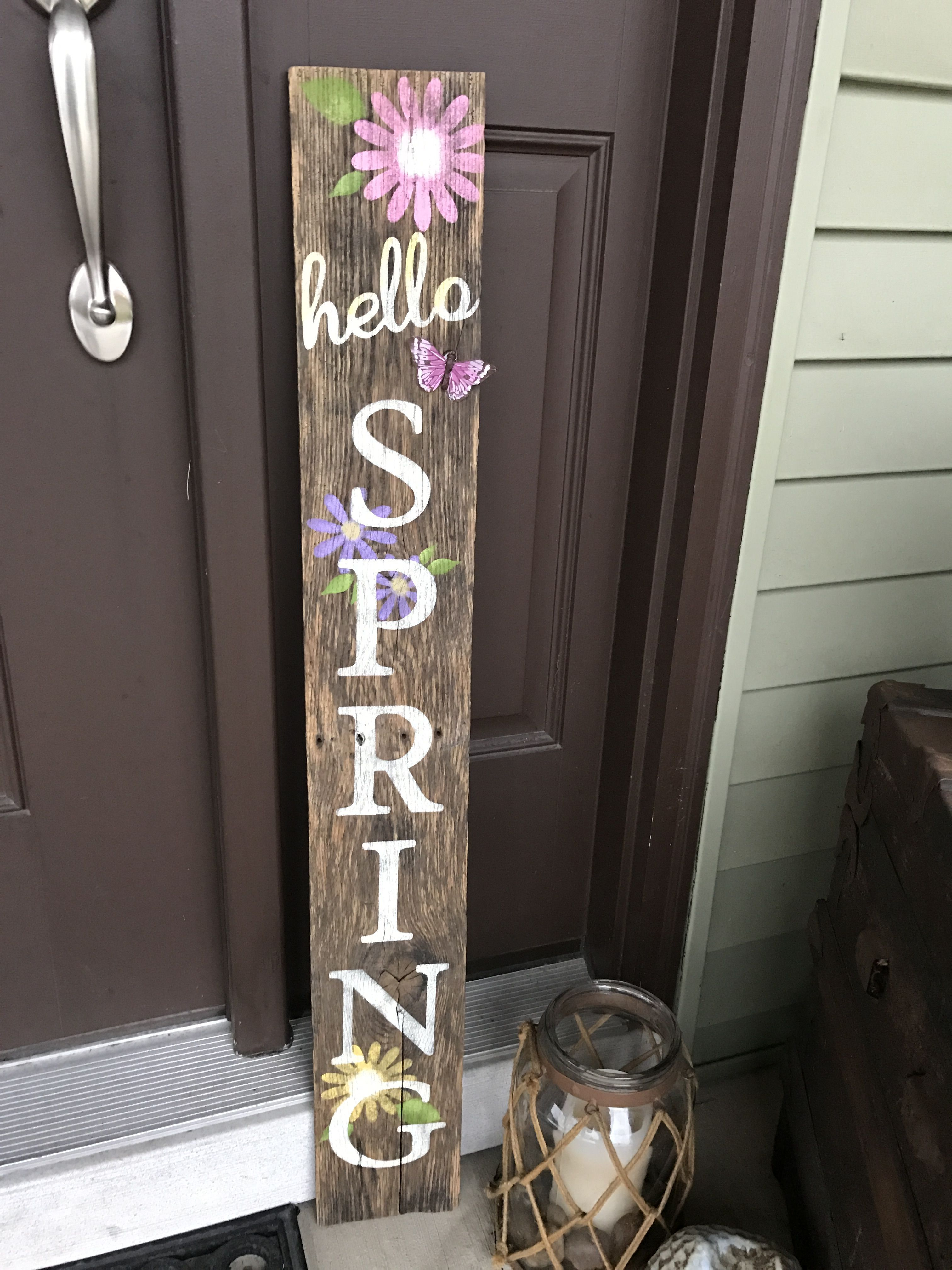 Photo of Spring sign from pallet wood