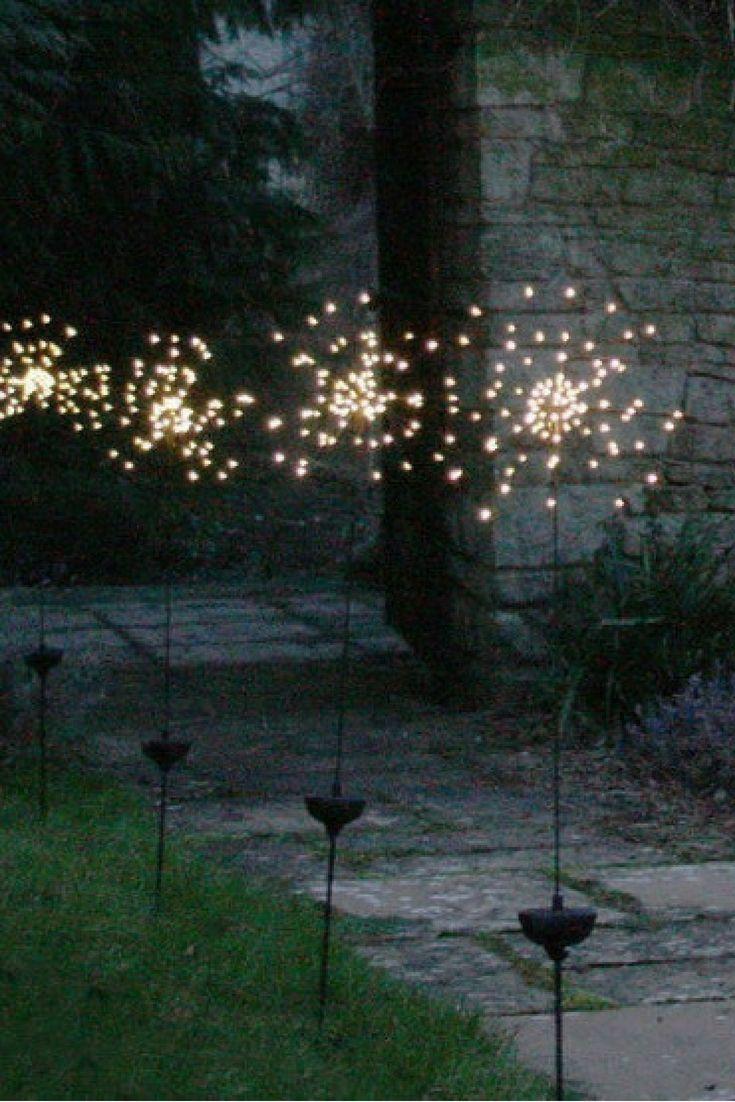 Allium Starburst LED Solar Outdoor Light Stake Led