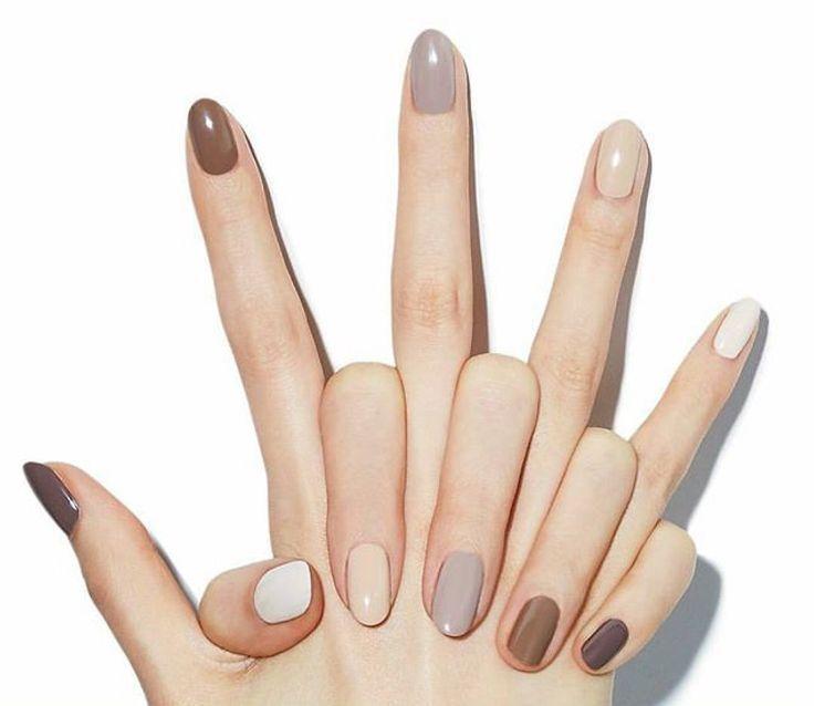Neutral Nail Colors Fall Nails Multi Color Fall Nails Nails