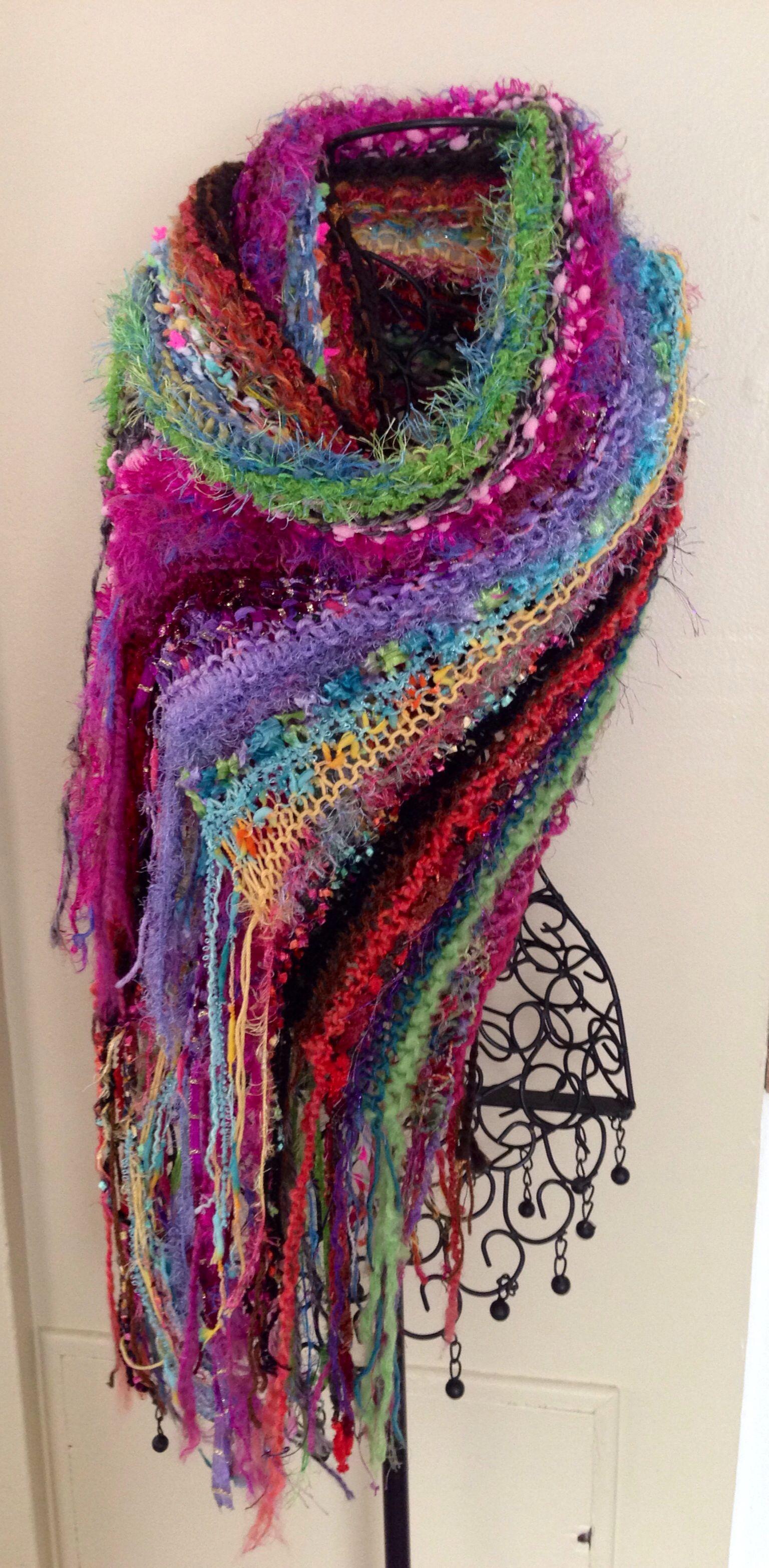 my latest polar vortex inspired knit wrap/shawl...