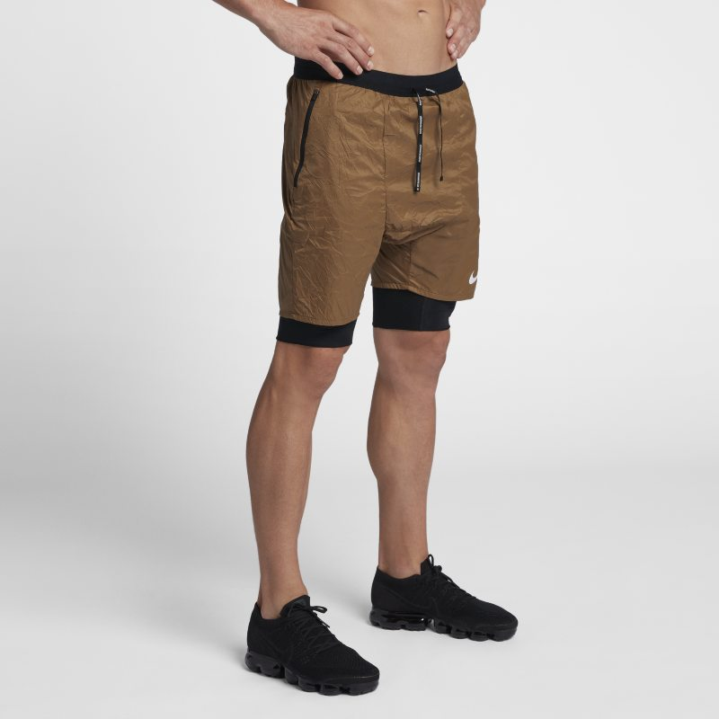 19b1bcc97d28 Nike Flex Run Division Stride Elevate Men s 2-in-1 Running Shorts - Brown