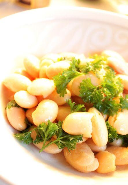 Keittiö ja puutarha: Sitruuna-valkosipulipavut