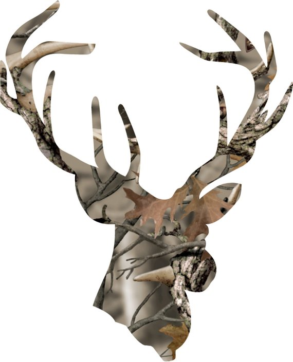 Realtree Hunting Antlers Die-Cut Vinyl Decal Sticker     19 Colors Available