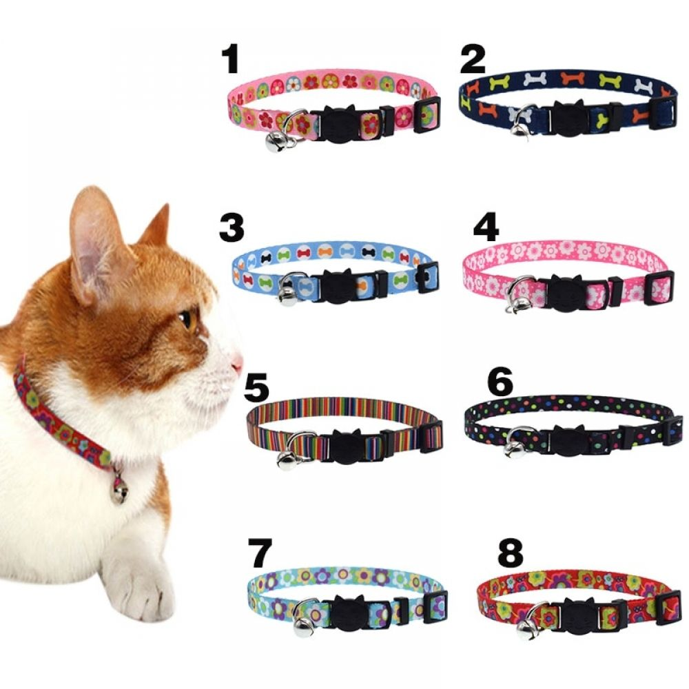 2019 Newly Cat Collar With Bell Safety Buckle Adjustable Kitten