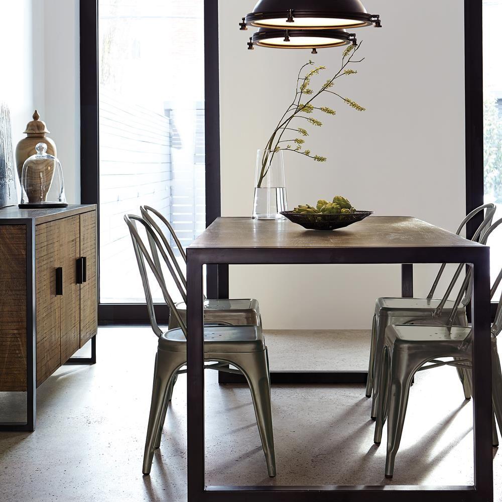 Atelier - Chic industriel - Chaise de salle à manger en métal style ...