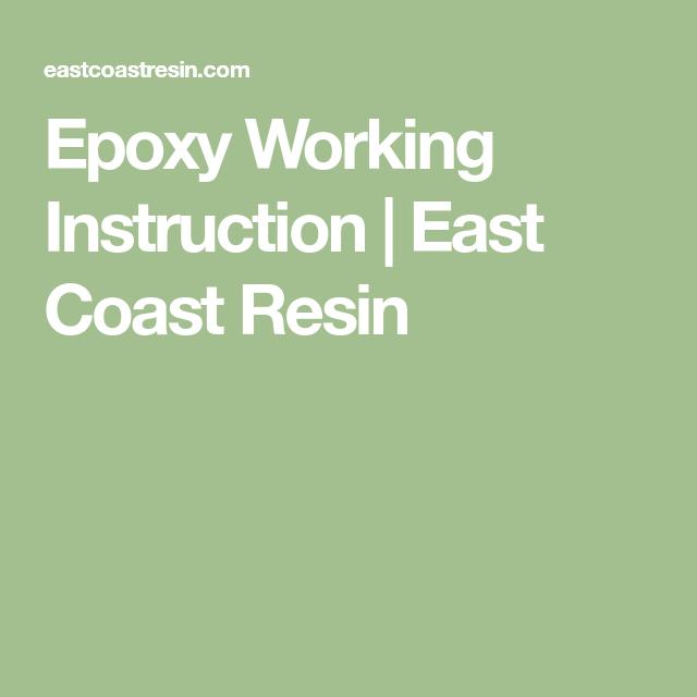 Epoxy Working Instruction | East Coast Resin | DIY Live Edge