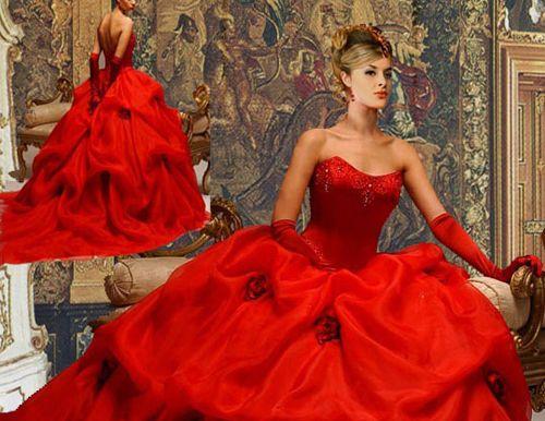 Vestiti da sposa rossi valentino