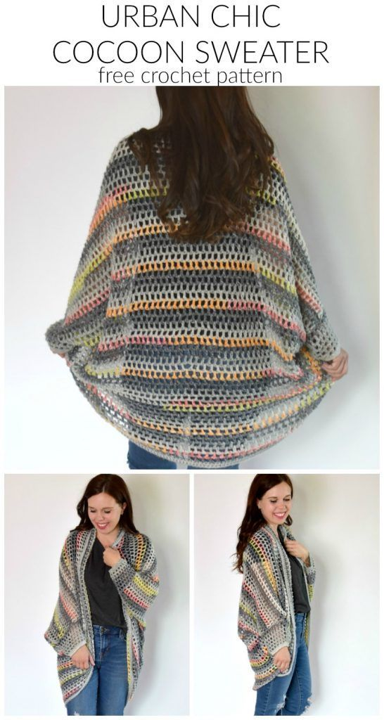 Photo of Urban Chic Cocoon Sweater Crochet Pattern