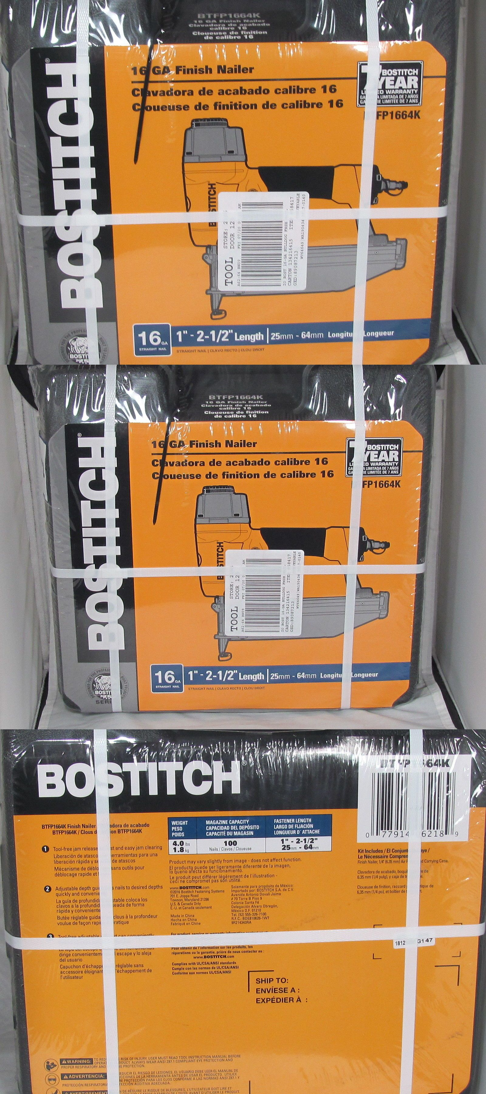 Air Tools 85759 Bostitch 1 2 1 2 Finish Nailer 16 Gauge Model Btfp1664k Brand New Buy It Now Only 68 95 On Ebay Tools Finish Nailer Nailer Air Tools